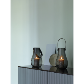 Holmegaard Design with Light Lanterner, smoke 2 stk.
