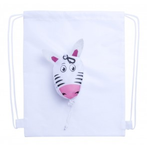 Kissa drawsting taske, zebra